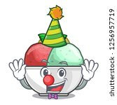 clown sorbet ice with black...   Shutterstock .eps vector #1256957719