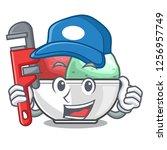 plumber sorbet ice with black...   Shutterstock .eps vector #1256957749