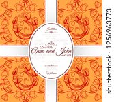 invitation template card with... | Shutterstock . vector #1256963773