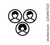 community vector icon. | Shutterstock .eps vector #1256967523