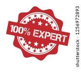 100  expert emblem  label ... | Shutterstock .eps vector #1256972893
