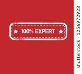 100  expert emblem  label ... | Shutterstock .eps vector #1256972923