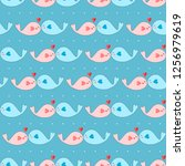 seamless pattern with love... | Shutterstock .eps vector #1256979619