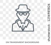 detective icon. trendy flat... | Shutterstock .eps vector #1256985826