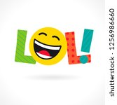 lol  word icon. comic emotional ... | Shutterstock .eps vector #1256986660