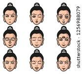 buddha freaky faces emoji   Shutterstock .eps vector #1256988079
