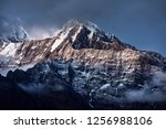 beautiful landscape of himalaya ... | Shutterstock . vector #1256988106