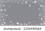 falling snow background.... | Shutterstock .eps vector #1256990569