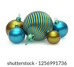 xmas christmas balls group...   Shutterstock . vector #1256991736