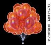 balloons party birthday symbol...   Shutterstock . vector #1256991769