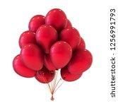 red helium balloons bunch ...   Shutterstock . vector #1256991793