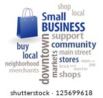 small business word cloud ... | Shutterstock .eps vector #125699618