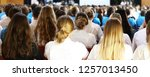 large number of high school... | Shutterstock . vector #1257013450