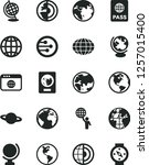 solid black vector icon set  ... | Shutterstock .eps vector #1257015400