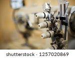 closeup details on sewing... | Shutterstock . vector #1257020869