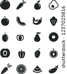 solid black vector icon set  ... | Shutterstock .eps vector #1257025816