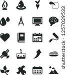 solid black vector icon set  ... | Shutterstock .eps vector #1257029533