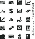 solid black vector icon set  ... | Shutterstock .eps vector #1257029593
