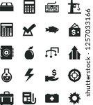 solid black vector icon set  ...   Shutterstock .eps vector #1257033166