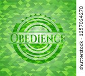 obedience green emblem with... | Shutterstock .eps vector #1257034270