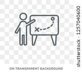 businessman and tactics icon....   Shutterstock .eps vector #1257040600