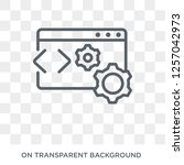 web optimization icon. trendy... | Shutterstock .eps vector #1257042973