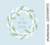 beautiful floral round frame... | Shutterstock . vector #1257045973