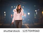 young woman talking with... | Shutterstock . vector #1257049060