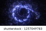 3d rendering abstract blue... | Shutterstock . vector #1257049783