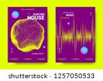 electronic festival music flyer.... | Shutterstock .eps vector #1257050533