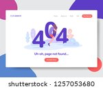 landing page template of 404... | Shutterstock .eps vector #1257053680