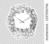 clock wreath vector linear...   Shutterstock .eps vector #1257056746