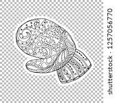 mitten linear vector...   Shutterstock .eps vector #1257056770