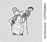 snowman character vector linear ...   Shutterstock .eps vector #1257056866