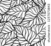 abstract black and white leaves ... | Shutterstock .eps vector #1257073843