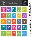touch gestures line icons | Shutterstock .eps vector #1257074200
