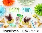 purim celebration concept ... | Shutterstock . vector #1257074710