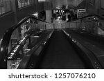 the escalators and people | Shutterstock . vector #1257076210