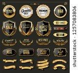 luxury gold and black design... | Shutterstock .eps vector #1257083806