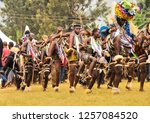 the people of bagisu in africa... | Shutterstock . vector #1257084520