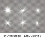 star explodes on transparent... | Shutterstock .eps vector #1257085459