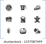 dessert icon set and sack of...