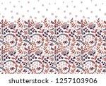 seamless border with folk... | Shutterstock .eps vector #1257103906