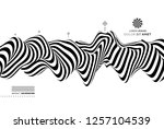 black and white design. pattern ... | Shutterstock .eps vector #1257104539