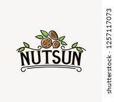 nuts sun logo | Shutterstock .eps vector #1257117073