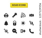 ui icons set with basket ...