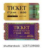 admission golden ticket...   Shutterstock .eps vector #1257139000