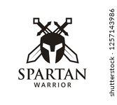 spartan warrior logo design... | Shutterstock .eps vector #1257143986