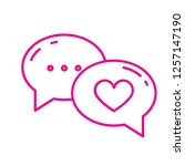 love chat icon | Shutterstock .eps vector #1257147190