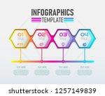 vector modern infographic 3d... | Shutterstock .eps vector #1257149839